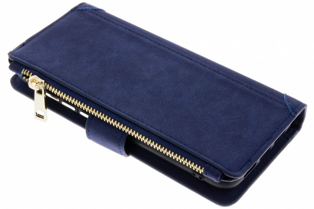 Blauwe luxe portemonnee hoes voor de Huawei P20