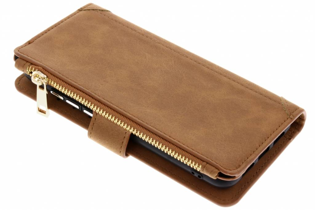 Bruine luxe portemonnee hoes voor de Huawei P20
