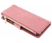Roze Luxe portemonnee hoes Huawei P20
