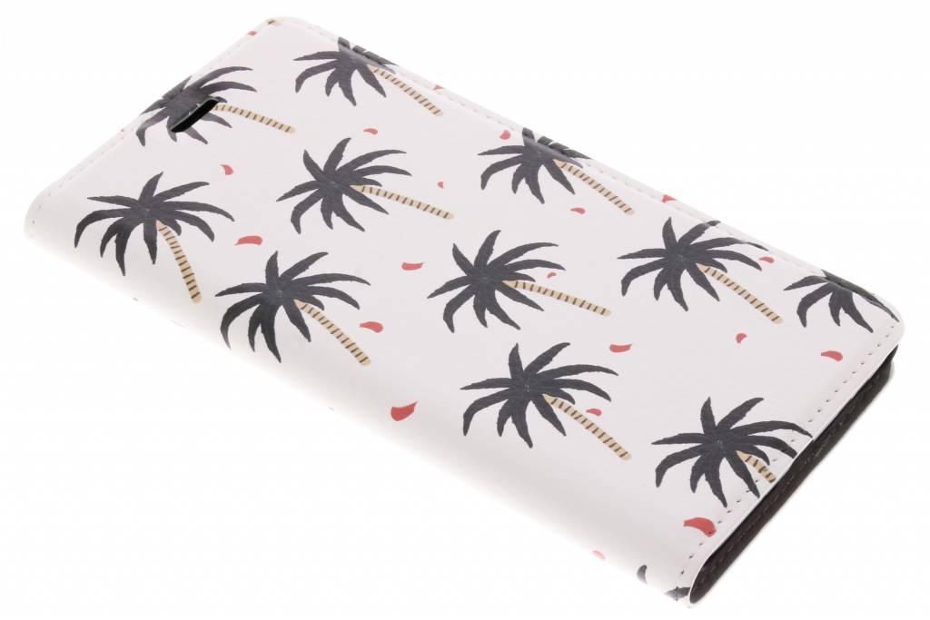 Design Hardcase Booktype voor Nokia 8 - Palmtrees