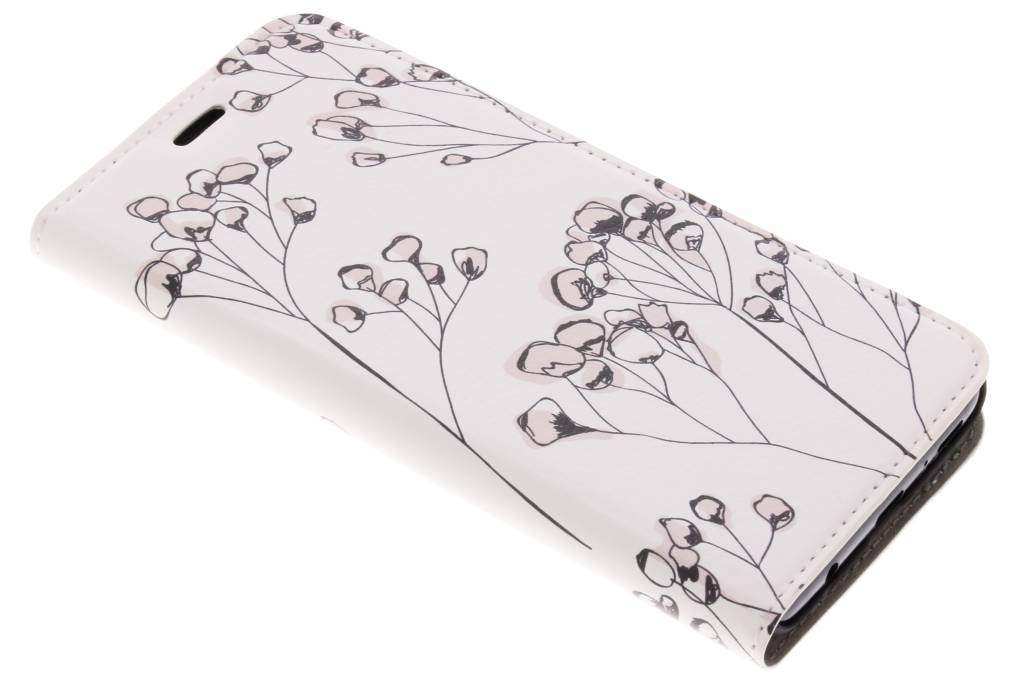 Design Hardcase Booktype voor Samsung Galaxy S9 - Delicate Bloemen
