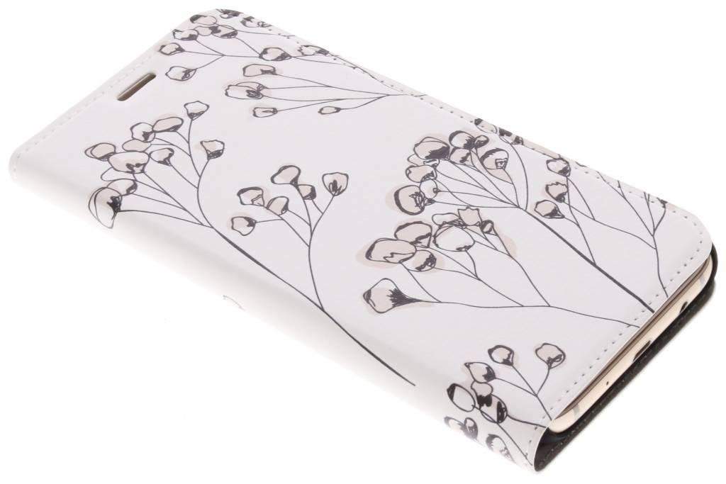 Design Hardcase Booktype voor Samsung Galaxy J7 (2017) - Delicate Bloemen