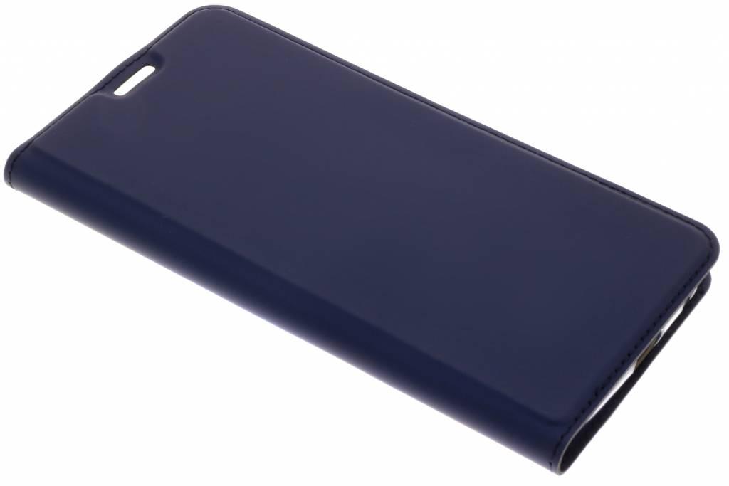 Dux Ducis Slim Softcase Booktype voor Motorola Moto G6 Plus - Donkerblauw