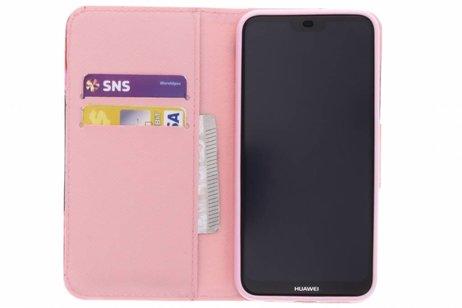 Huawei P20 Lite hoesje - Design Softcase Booktype voor