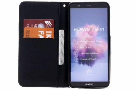 Design Softcase Booktype voor Huawei P Smart