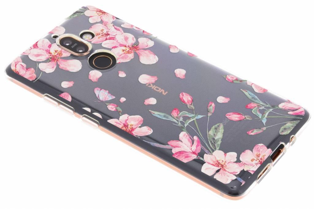 Design Backcover voor Nokia 7 Plus - Bloesem Watercolor
