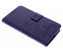 Paars Klavertje bloemen booktype hoes Sony Xperia XZ2