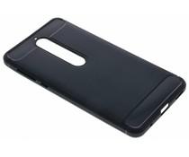 Zwart Brushed TPU case Nokia 6 (2018)
