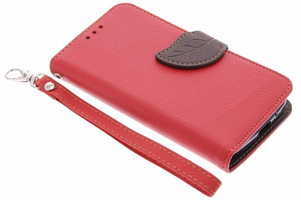 Blad Design Booktype voor Motorola Moto G - Rood