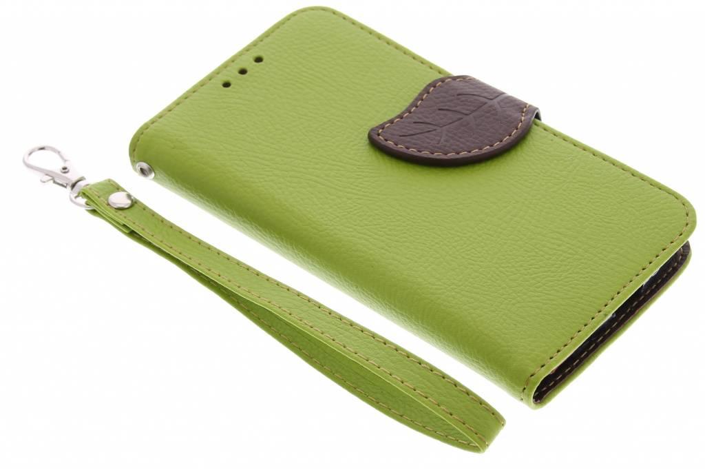 Blad Design Booktype voor Motorola Moto G - Groen