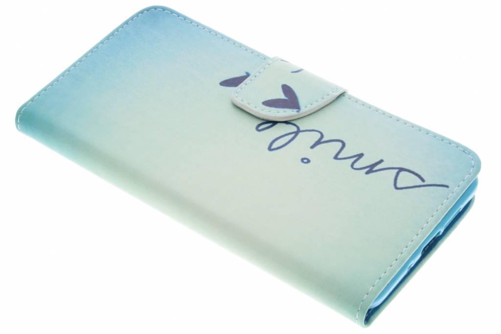 Design Softcase Booktype voor Nokia 7 Plus