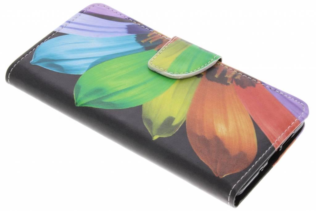 Regenboog design TPU booktype hoes voor de Nokia 7 Plus