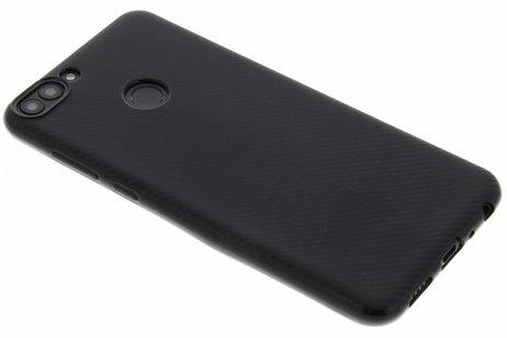 Carbon Softcase Backcover voor Huawei P Smart - Zwart