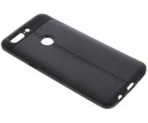 Zwart Lederen siliconen case OnePlus 5T