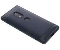 Donkerblauw Brushed TPU case Sony Xperia XZ2
