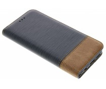 Donkerblauw Denim TPU booktype hoes Huawei P20 Lite