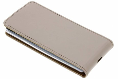 Luxe Softcase Flipcase voor Sony Xperia XZ2 Compact - Goud