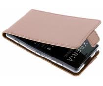 Selencia Rosé Goud Luxe TPU Flipcase Sony Xperia XZ2 Compact
