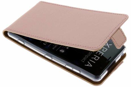 Selencia Luxe Softcase Flipcase voor Sony Xperia XZ2 Compact - Rosé goud
