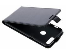 Zwart lederen TPU Flipcase OnePlus 5T