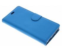 Blauw Litchi Booktype Hoes Alcatel 5