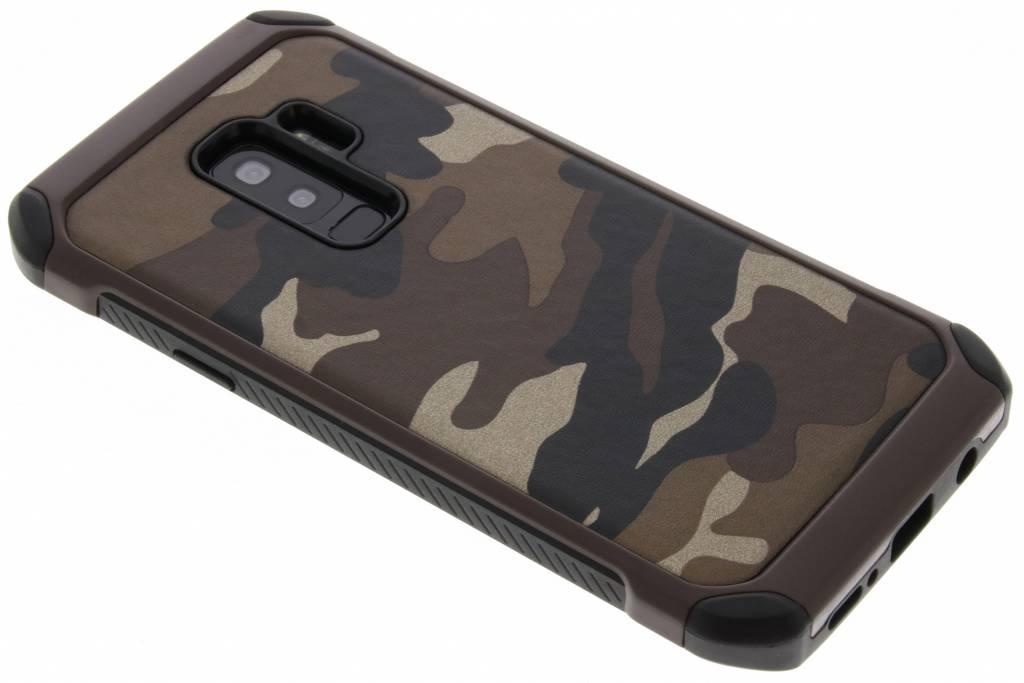 Bruin army defender hardcase hoesje voor de Samsung Galaxy S9 Plus