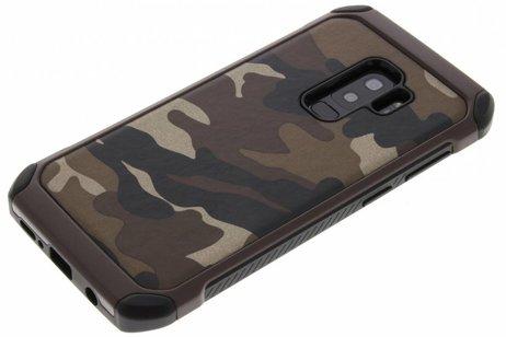 Samsung Galaxy S9 Plus hoesje - Army Defender Backcover voor
