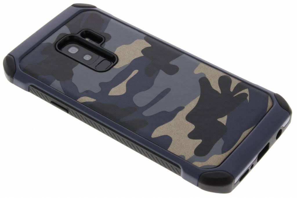 Blauw army defender hardcase hoesje voor de Samsung Galaxy S9 Plus