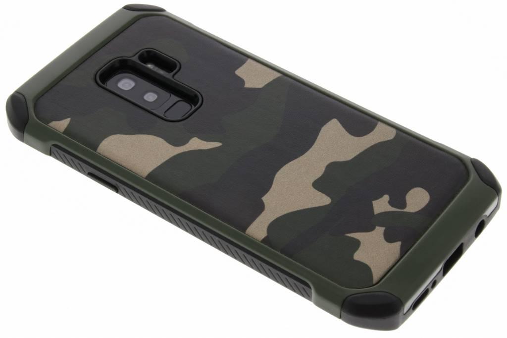 Groen army defender hardcase hoesje voor de Samsung Galaxy S9 Plus