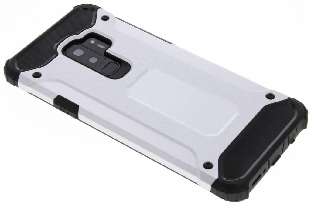 Zilveren Rugged Xtreme Case voor de Samsung Galaxy S9 Plus