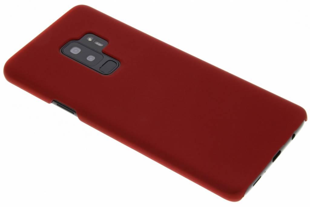 Rood effen hardcase hoesje voor de Samsung Galaxy S9 Plus