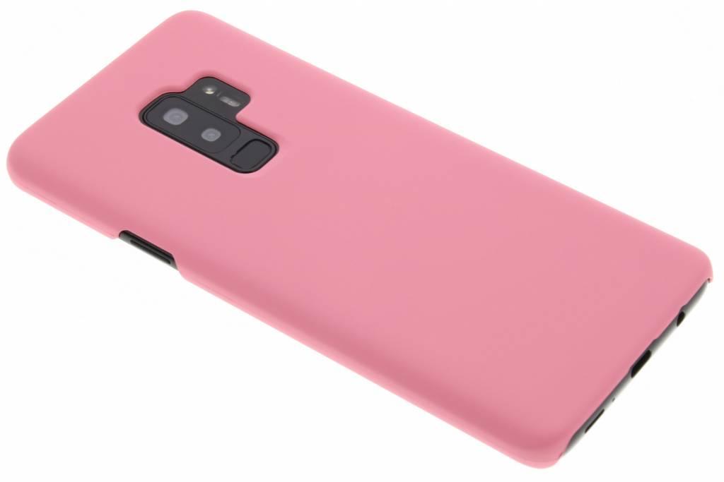 Roze effen hardcase hoesje voor de Samsung Galaxy S9 Plus
