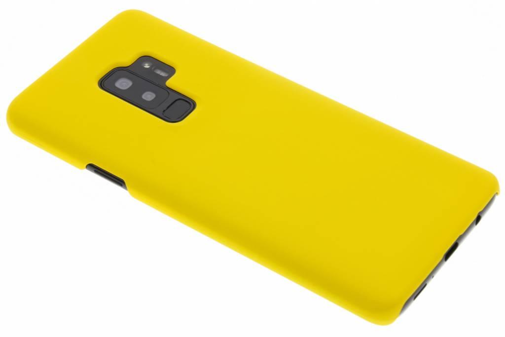 Geel effen hardcase hoesje voor de Samsung Galaxy S9 Plus
