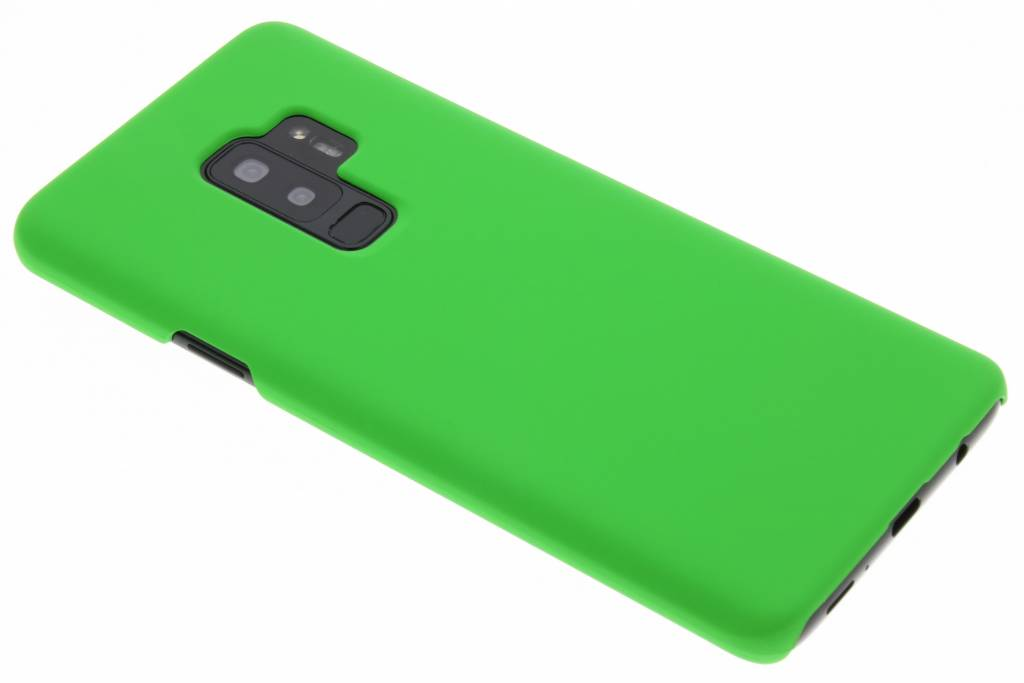 Groen effen hardcase hoesje voor de Samsung Galaxy S9 Plus