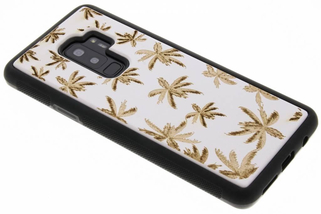 Wit palmboom hout hardcase hoesje voor de Samsung Galaxy S9 Plus