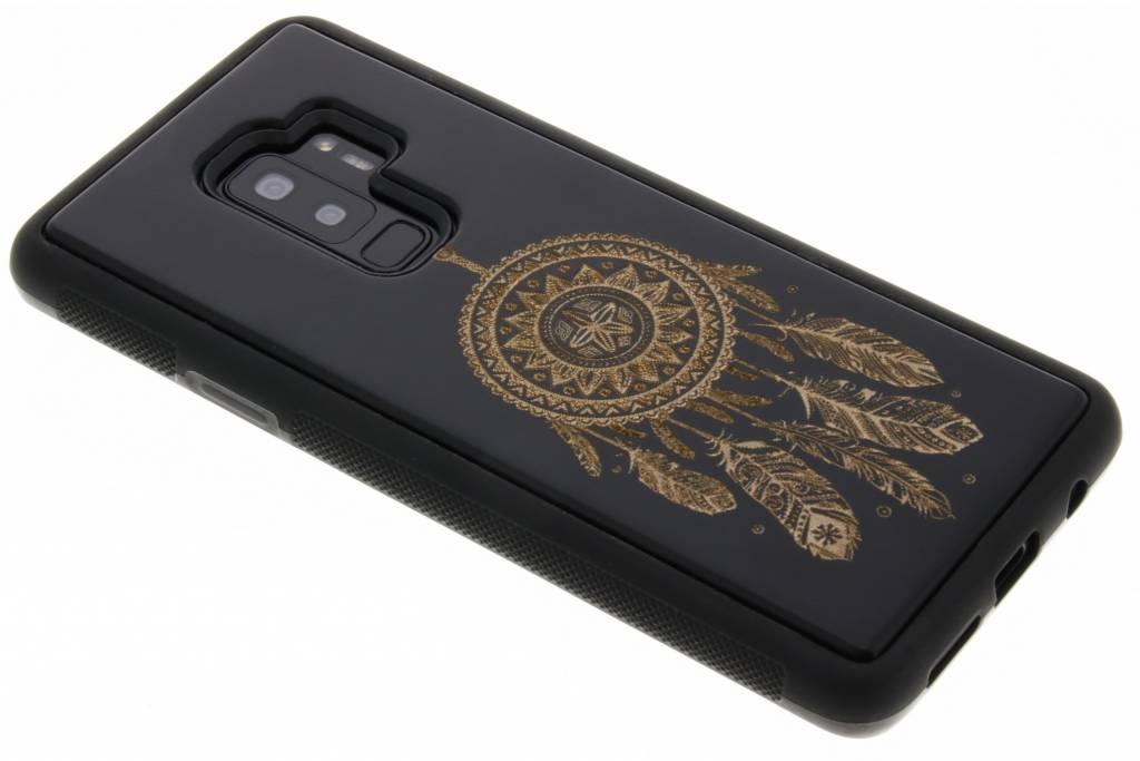 Zwart dromenvanger hout hardcase hoesje voor de Samsung Galaxy S9 Plus