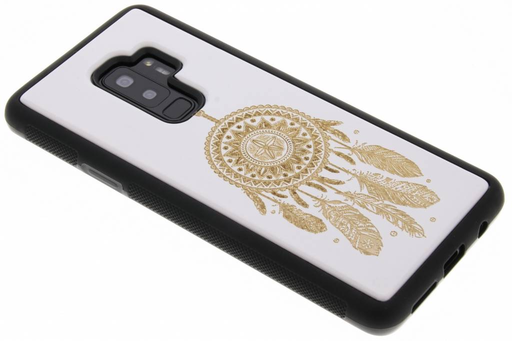 Wit dromenvanger hout hardcase hoesje voor de Samsung Galaxy S9 Plus