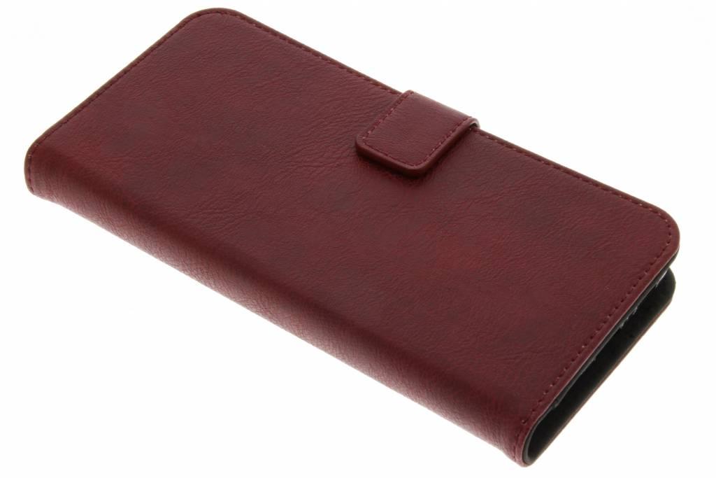 Rode luxe leder booktype hoes voor de Samsung Galaxy S9 Plus