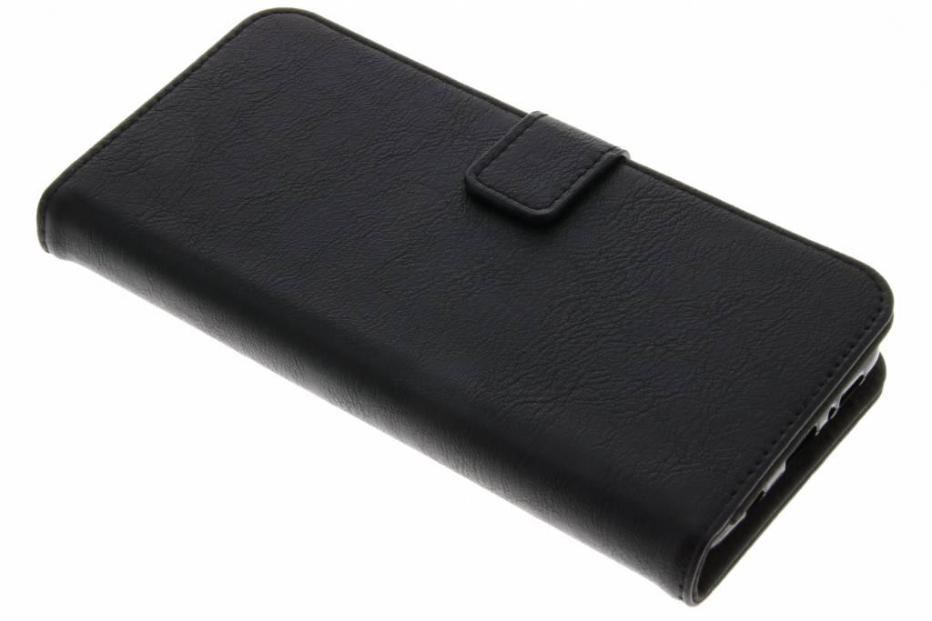 Zwarte luxe leder booktype hoes voor de Samsung Galaxy S9 Plus