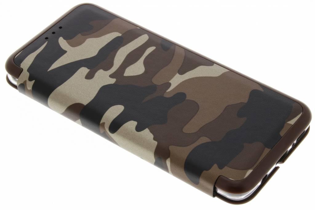 Bruine Army Slim Folio Case voor de Samsung Galaxy S9 Plus