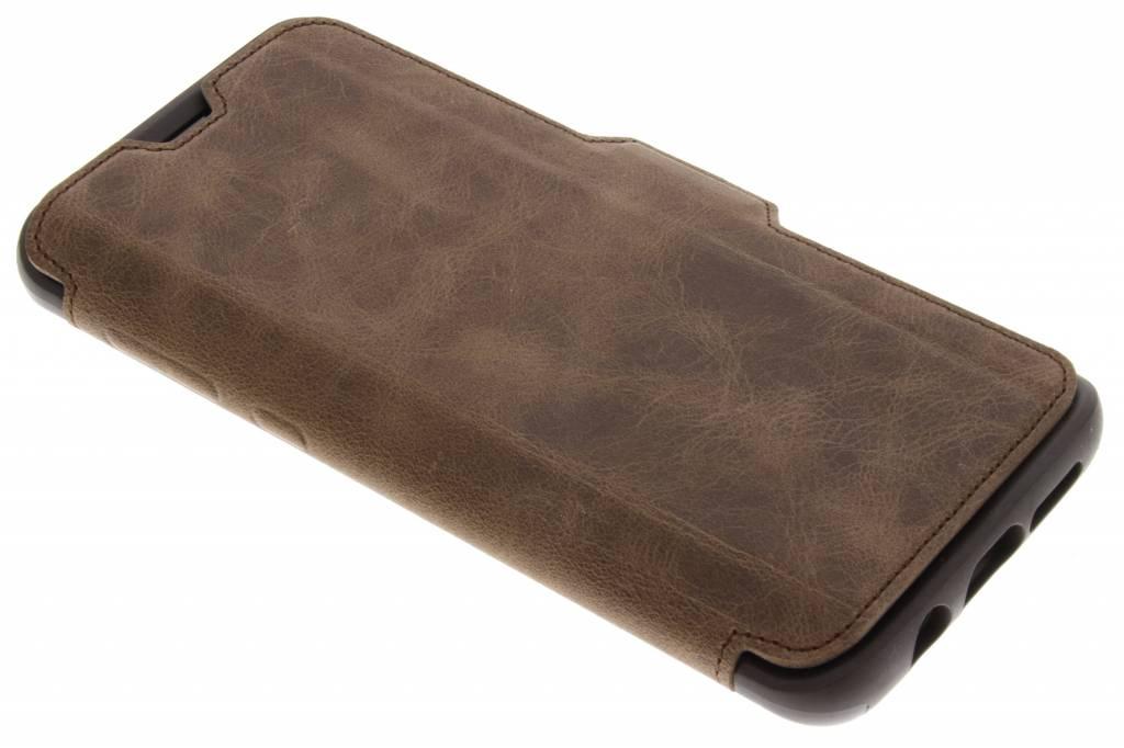 Bruine Strada Book Case voor de Samsung Galaxy S9 Plus