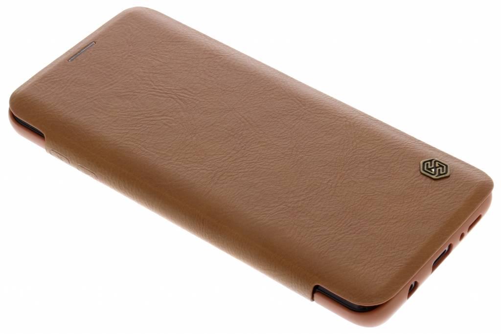 Bruine Qin Leather slim booktype voor de Samsung Galaxy S9 Plus