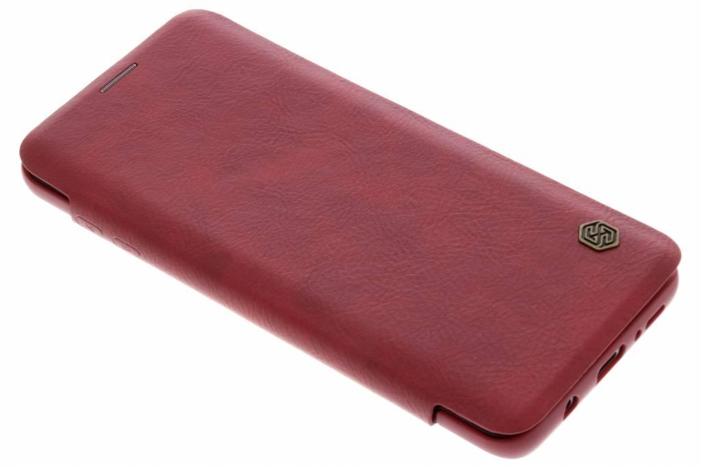 Rode Qin Leather slim booktype voor de Samsung Galaxy S9 Plus