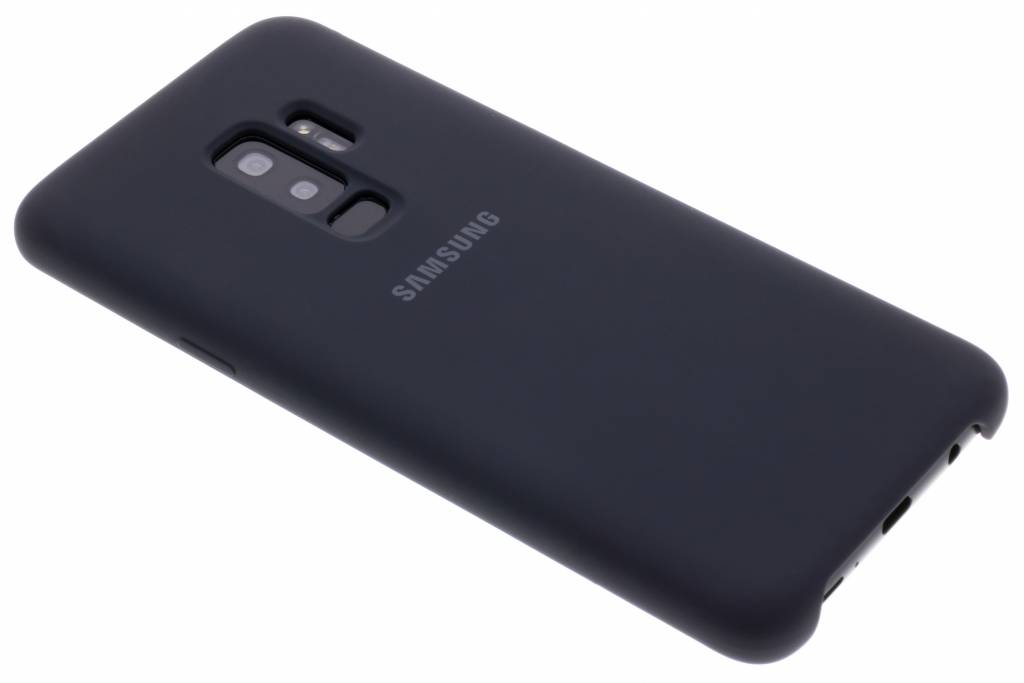 Zwarte Originele Silicone Cover voor de Galaxy S9 Plus