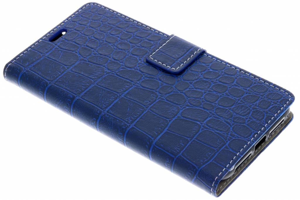 Blauwe krokodil booktype hoes voor de Alcatel 3X