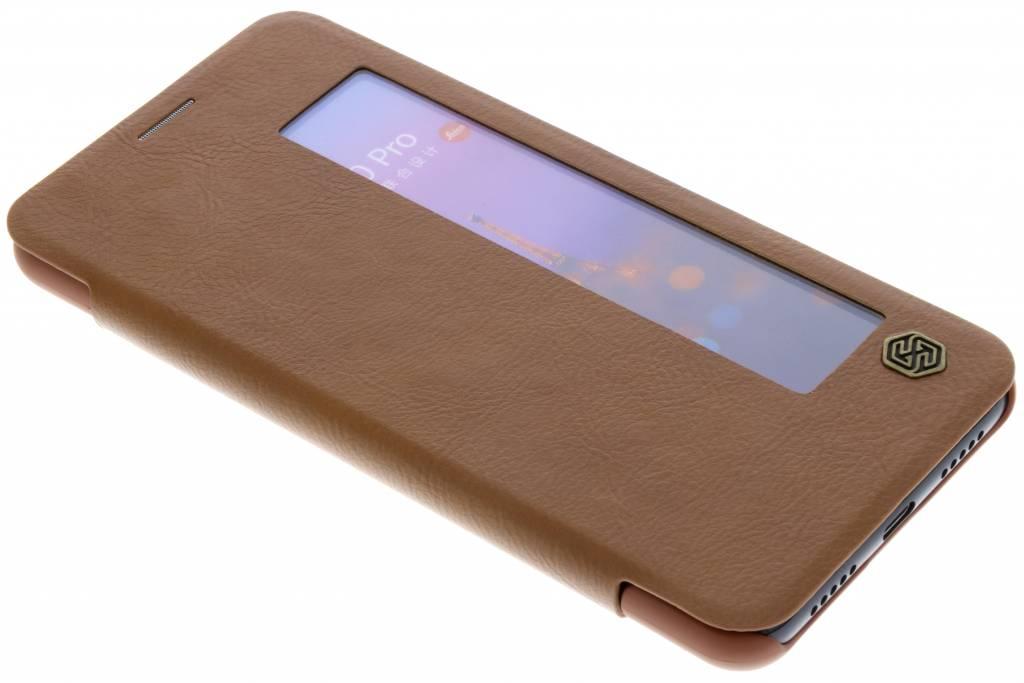 Nillkin Qin Leather Slim Booktype voor Huawei P20 Pro - Bruin