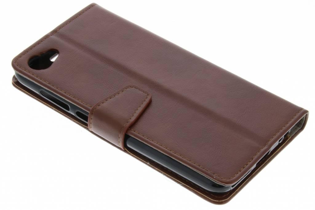 Zakelijke Hardcase Booktype voor HTC Desire 12 - Bruin