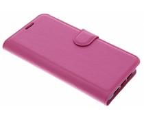 Roze Litchi Booktype Hoes ZTE Blade V9