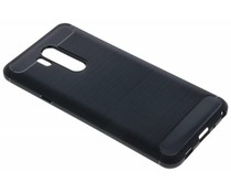 Zwart Brushed TPU case LG G7