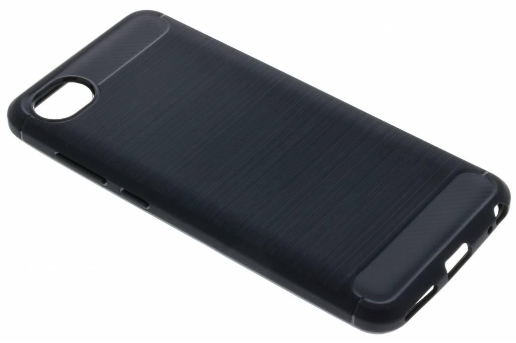 Zwarte Brushed TPU case voor de HTC Desire 12
